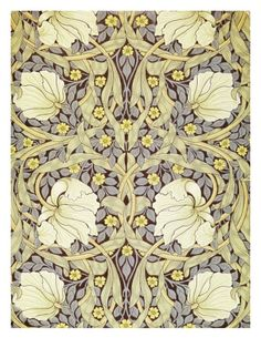 Dining-room wall art. @Steffani LeFevour   Pimpernell, Wallpaper Design Giclee Print by William Morris at Art.com