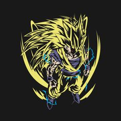 Awesome 'Super+Saiyan+Goku+shirt' design on TeePublic!
