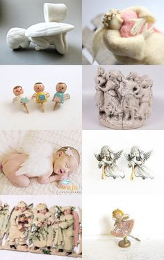 Sweet Guardian Angels...By  Nancy from cottagewhimsies          --Pinned with TreasuryPin.com