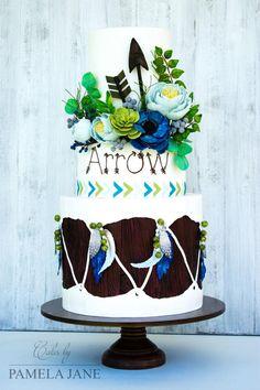 Tribal Arrow Cake by Pamela Jane