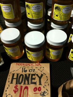 Pacific Northwest honey from Sunny Honey. Anne Smith is the beekeeper extraordinaire! South Lake Union, Seattle Neighborhoods, Pike Place Market, Downtown Seattle, Needful Things, Pacific Northwest, Farmers Market, North West, Honey