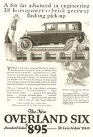 Overland Six Standard Sedan 1925 Ad Picture