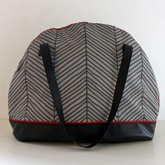 4 Freizeiten: Nähen: Taschenspieler-3-Sew-Along, Nr. 9 - die Bogentasche ... Farbenmix, geräumige Tasche, große Handtasche, mit langem Reißverschluss