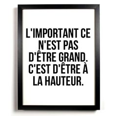 A la hauteur – Mes mots doux – Best Pins Live Quotes Español, Words Quotes, Sayings, Funny Quotes, The Words, Cool Words, Positive Mind, Positive Attitude, Positive Quotes