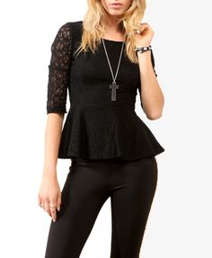 Lace black peplum:) forever 21 $22.80 <3