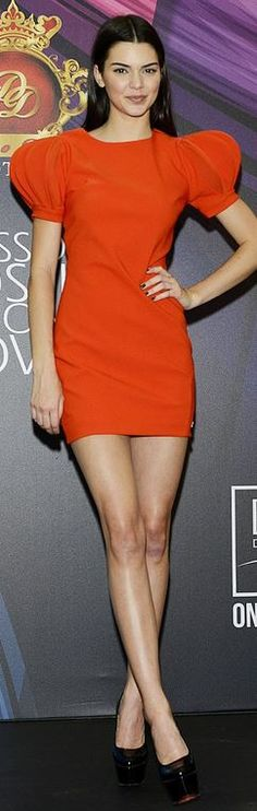 Kendall Jenner: Dress – Dosso Dossi  Shoes – Christian Louboutin