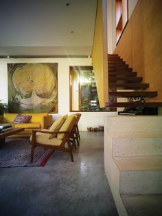 Sam Crawford Architects - Campbell House. It's probably the Arthur Boyd painting that makes this interior look so great.