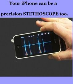 Now iPhone can be turned into a STETHOSCOPE.  #nursingGadgets
