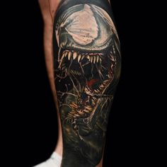 Spiderman's Venom Tattoo by Nikko Hurtado