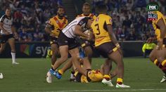 Huge collision between Brayden Williams and David Mead | Fiji vs Papua Guinea (Rugby League) http://ift.tt/1USWPrI Love #sport follow #sports on @cutephonecases
