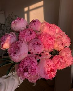 Find images and videos about beautiful, pink and flowers on We Heart It - the app to get lost in what you love. My Flower, Beautiful Flowers, Roses Pink, Pink Peonies, Plants Are Friends, Flower Aesthetic, Mother Nature, Floral Arrangements, Planting Flowers