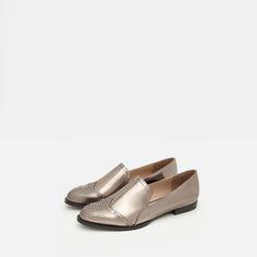 + slippers métallisé +