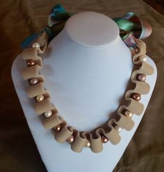 Velvet ribbon necklace with pearls by GCMdesigns on Etsy, $35.00