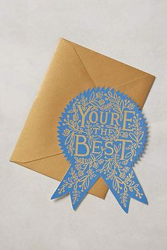 You're The Best Card - anthropologie.com #anthropologie #AnthroFave