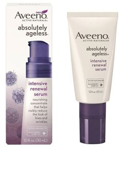 Aveeno Absolutely Ageless Intensive Renewal Serum | Harper's Bazaar 50 Best Anti-Aging Products #antiagingbeautytips