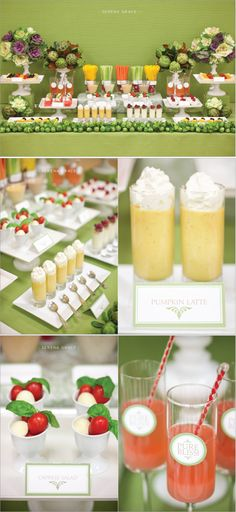 LOVE this Fruit and Veggie Bar! Great for a spring or summer reception!