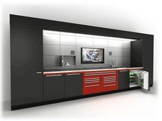 Goldberg Modular Storage Cabinets for Residencial and Commercial Solutions Garage Storage Solutions, Diy Garage Storage, Modular Storage, Storage Systems, Bike Storage, Storage Ideas, Garage Shed, Garage Tools, Garage Plans