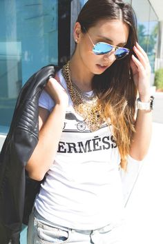 Hermessico tee by #HappinessBrand now on the blog! #fashion #style #Miami #blogger