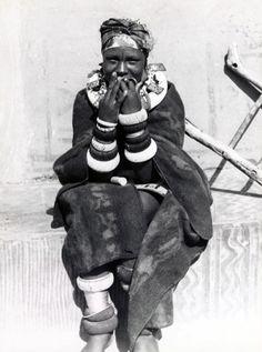 Africa | Ndebele girl before initiation. Transvaal, South Africa. 1948 | ©Herman J Hahndiek