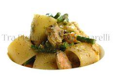 Tra Pignatte e Sgommarelli: Le mie ricette - Mezzi paccheri con asparagina, co...
