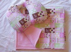 Infant Combo Set, Travel Pillow & Blanket  - Baby Girl