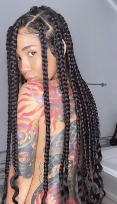 """""""✨ home girl ✨"""" Black Girl Braids, Braided Hairstyles For Black Women, Braids For Black Hair, Girls Braids, Braids Hairstyles Pictures, African Braids Hairstyles, Big Box Braids Hairstyles, Hairstyle Braid, Protective Hairstyles"""