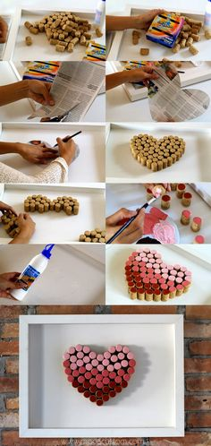 cork heart diy