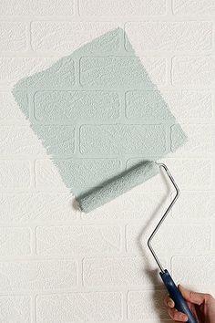 Graham & Brown Brick Wall texture Paintable Wallpaper $30.00 #wallpaper