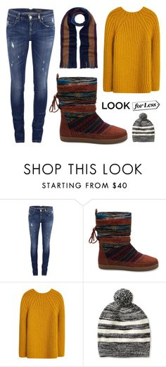 """""""Gold + Winter"""" by leiastyle on Polyvore featuring ONLY, MANGO, Banana Republic, Paul Smith, Boots, Sweater, jeans, beanie and scarf"""