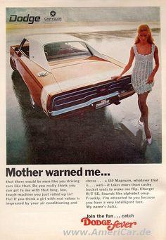 1969 Dodge Charger R/T vintage print advertisement