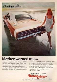 1969 Dodge Charger R/T vintage print advertisement