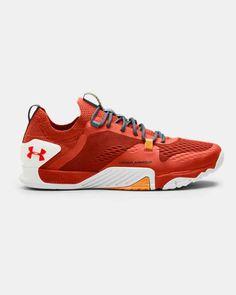 Men's UA TriBase™ Reign 2 Training Shoes, Orange Soccer Training, Running Training, Training Shoes, Boys Shoes, Men's Shoes, Top Basketball Shoes, Running Shops, English Men, Underwear Shop