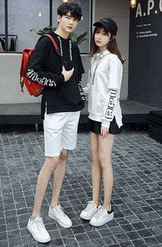 Letter Hooded Fashion Couple Shirt _Couples shirts_WHOLESALE CLOTHING_Wholesale clothing, Wholesale Clothes Online From China