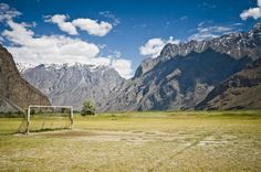 As the kickoff for the World Cup fast approaches, we track down the strangest, remotest and most striking pitches in the world, from Tajikistan to Morocco and Greenland