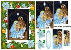Lovely Mary and Joseph in christmas frame pyramids on Craftsuprint - Add To Basket!