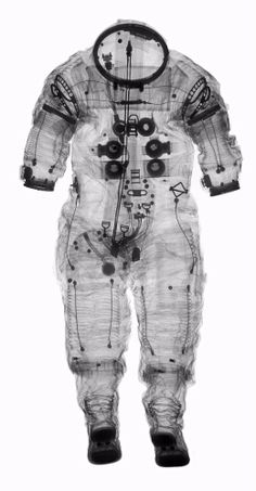 X-ray of Alan Shepard's Apollo 14 A-7 Extravehicular Suit, by Mark Avino/Smithsonian Institution