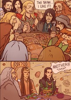 Yes! Thor would get along SO well with dwarves.:)