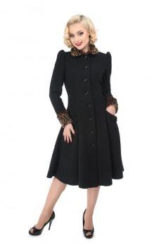 Gina Leopard Fur Trim Coat