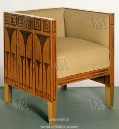 Chair, designed by Koloman Moser and made by Caspar Hrazdil. Vienna, Austria, 1903