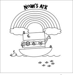 Coloring pages for the story of Noah and the ark. Bible coloring page