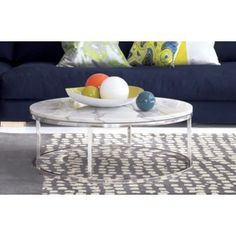 FAMILY ROOM:  smart round marble top coffee table