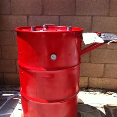 """My homemade bbq smoker """"BO"""" which stands for Burnt Offering"""