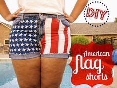 Floral Anchors: DIY American Flag Shorts