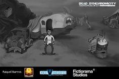 "Raquel Barros (Red Little House Studios) reinterpreta ""Dead Synchronicity: Tomorrow Comes Today"" (Fictiorama Studios)"