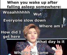 jongup b.a.p waking up sleep confusion