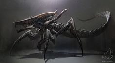Xenomorph + Starship Trooperes Warrior Bug by Koryface alien aliens monster beast creature animal | Create your own roleplaying game material w/ RPG Bard: www.rpgbard.com | Writing inspiration for Dungeons and Dragons DND D&D Pathfinder PFRPG Warhammer 40k Star Wars Shadowrun Call of Cthulhu Lord of the Rings LoTR + d20 fantasy science fiction scifi horror design | Not Trusty Sword art: click artwork for source