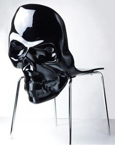 Skull back chair. Awesome. http://thedesignwalker.tumblr.com/post/132331285128/skull-chair-skull-chairs-skulls-webs-bats