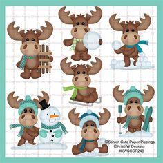 Winter Moose Cutting Files