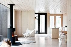 Simple wooden kitchen area - scandinavian simplicity, back to my roots...