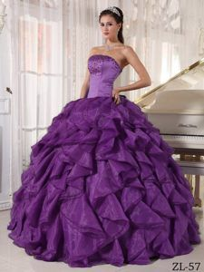 6766038d8c Buy surprising strapless ruffled beaded teal sweet sixteen dress in satin  organza from teal quinceanera dresses collection
